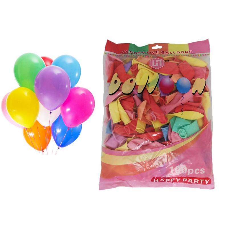 """Повітряні кулі Happy Party різнокольорові D25 см., 2,2 г.,  м/у, 1/100шт ТМ """""""" HPD25 купить в магазине """"Пустун"""""""