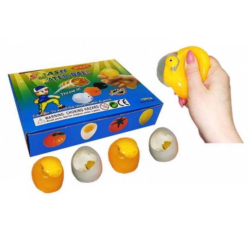 """Набор антистресс игрушек """"Яйцо с цыплёнком"""", 12 штук MLegg8 купить в магазине """"Пустун"""""""