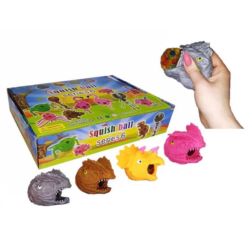 """Набор антистресс игрушек """"Динозавр с орбизами"""", 12 штук IAdino8 купить в магазине """"Пустун"""""""