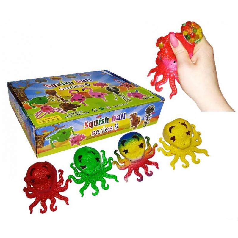 """Набор антистресс игрушек """"Осьминожка с орбизами"""", 12 штук IAoctopus9 купить в магазине """"Пустун"""""""