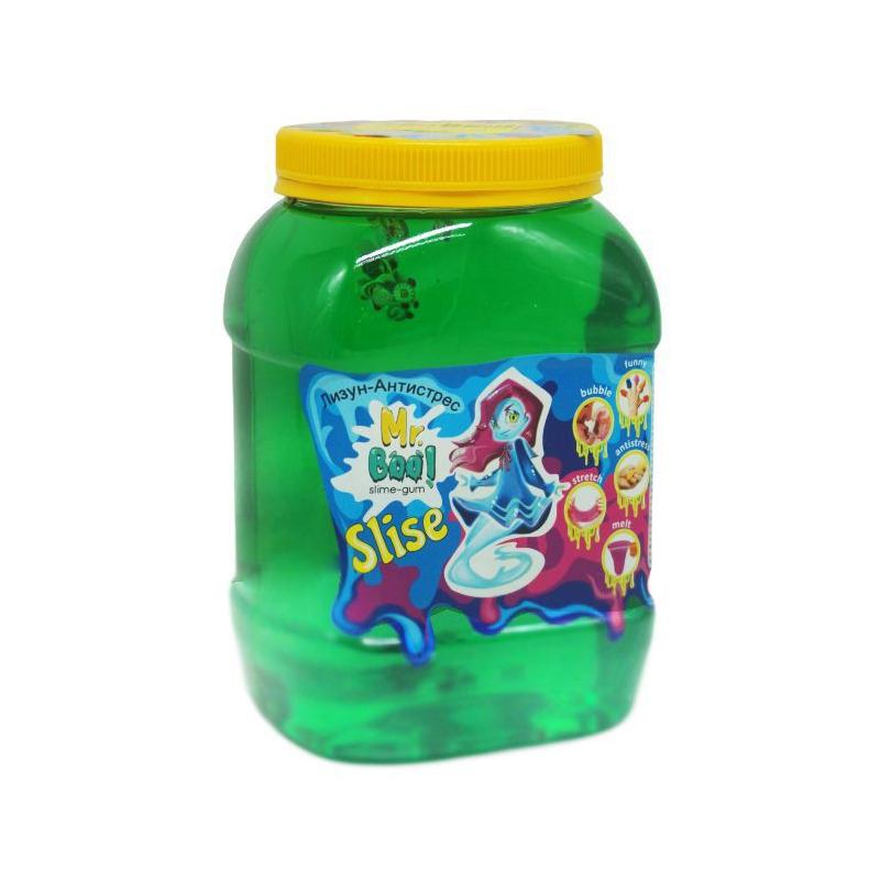 """Лизун-антистресс """"Mr. Boo с фимо"""", 1000 г (зеленый) 80049 купить в магазине """"Пустун"""""""