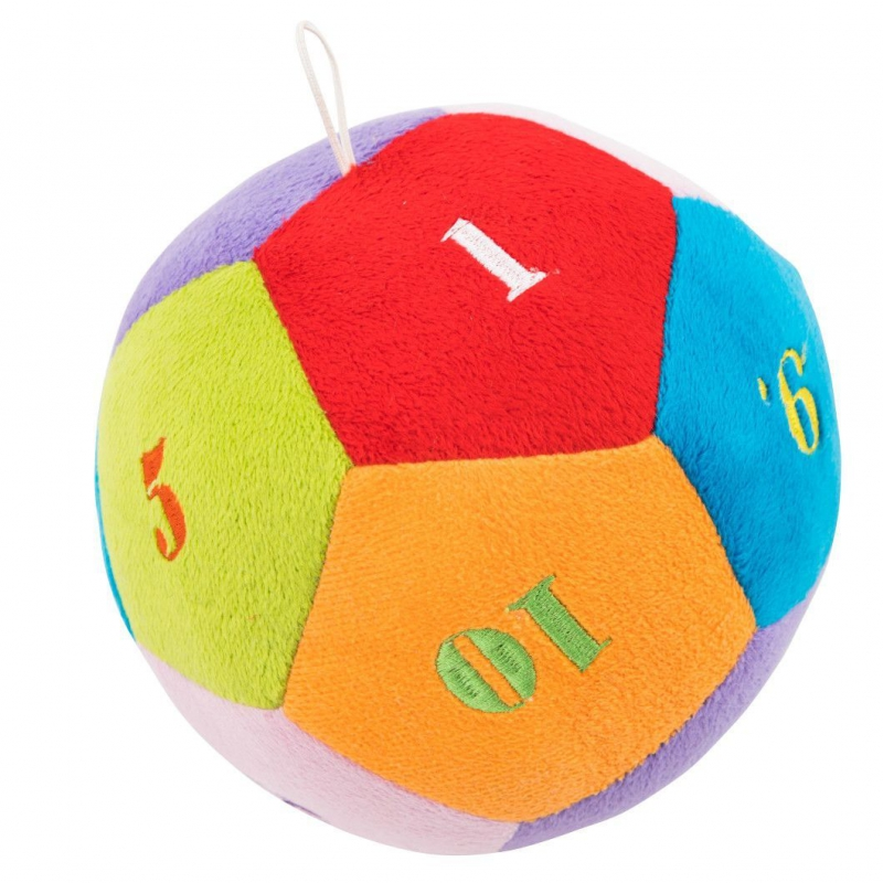 """Мягкая игрушка TIGRES Мячик с цифрами (ІГ-0001) купить в магазине """"Пустун"""""""