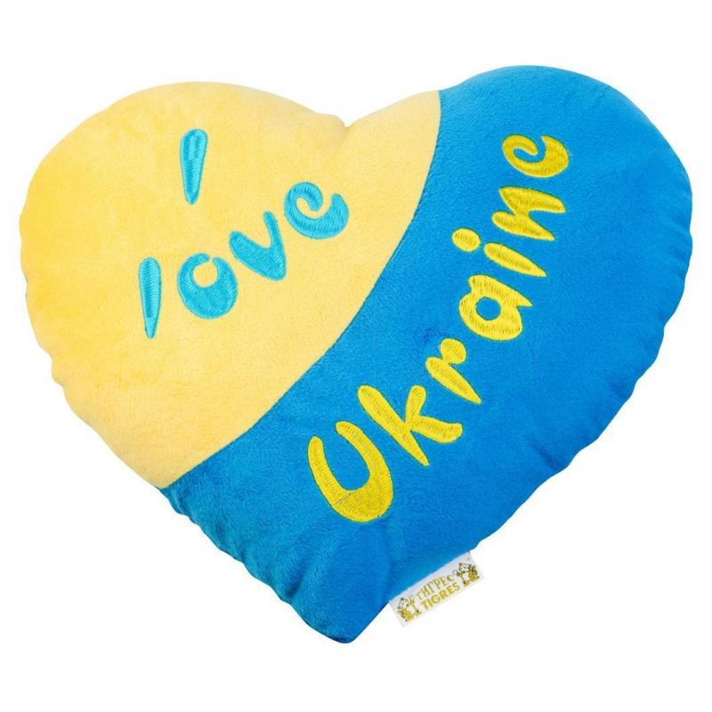 "Подушка-сердечко TIGRES I love Ukraine (ПД-0121) купить в магазине ""Пустун"""