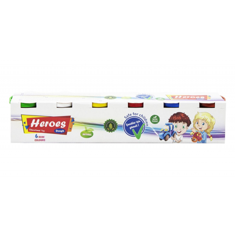 "Тесто для лепки ""Heroes"", 6 цветов E ERN-511-2 купить в магазине ""Пустун"""