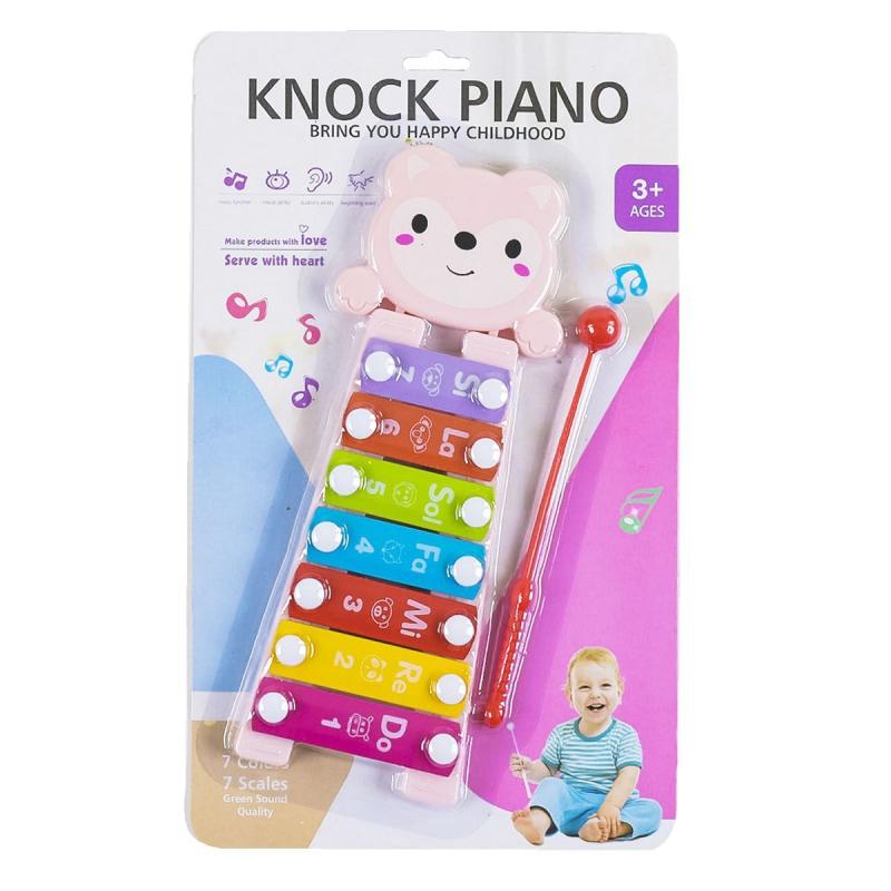 """Ксилофон """"Knock Piano"""", 7 тонов, розовый 668-62 купить в магазине """"Пустун"""""""