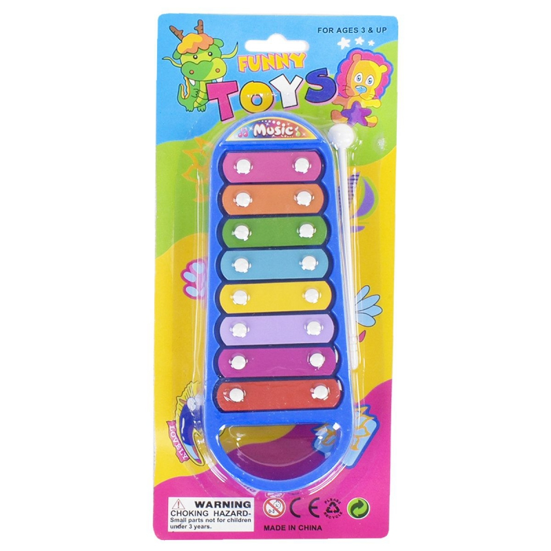 """Ксилофон """"Funny Toy"""", 8 тонов, синий 3021 купить в магазине """"Пустун"""""""