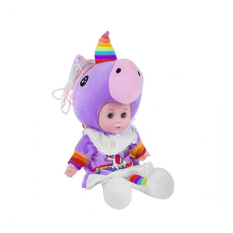 """Мягкая кукла Lovely Doll: Единорожек с радужным рогом купить в магазине """"Пустун"""""""