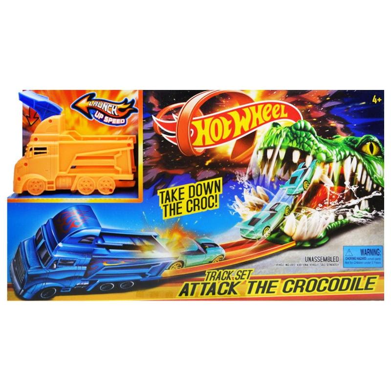 """Трек с запуском """"Hot Wheel: Крокодил"""" 3078 купить в магазине """"Пустун"""""""