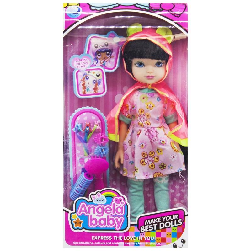 """Кукла """"Angela baby"""" в плаще 1403N купить в магазине """"Пустун"""""""