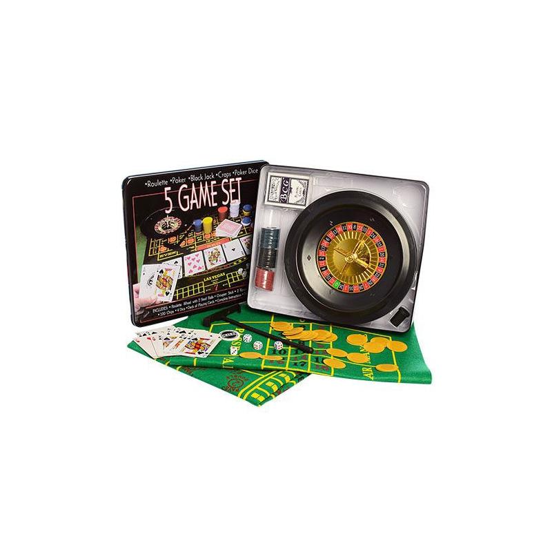 """Настольная игра """"Casino Game Set"""" 5в1 D25354 купить в магазине """"Пустун"""""""