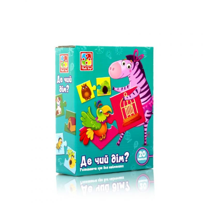 """Развивающая игра """"Где чей домик?"""" (укр) VT1804-30 купить в магазине """"Пустун"""""""
