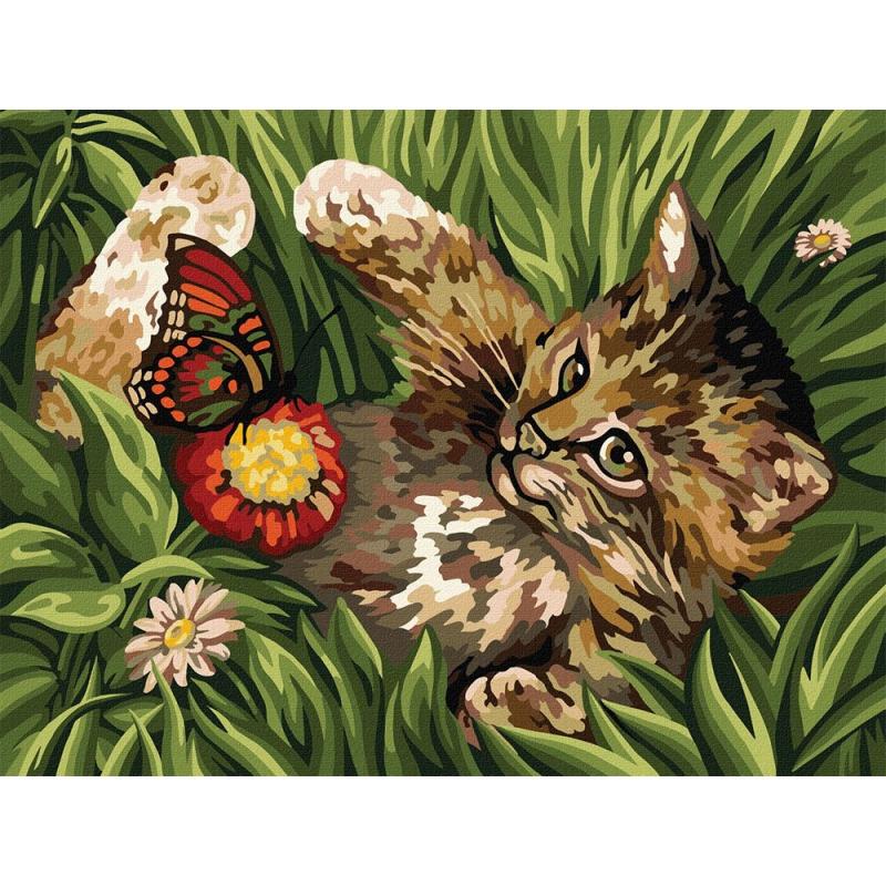 "Картина по номерам ""Котёнок"" KpNe-03-03 купить в магазине ""Пустун"""