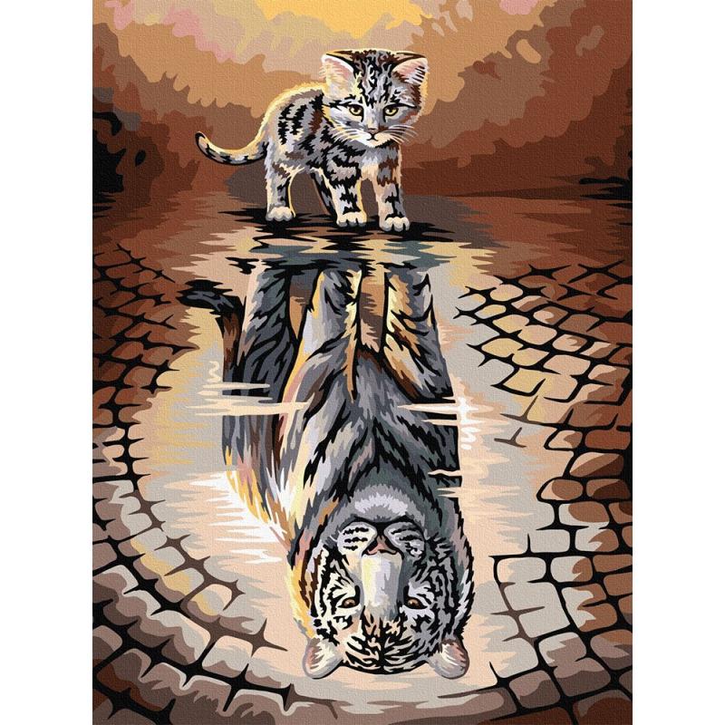 "Картина по номерам ""Тигр"" KpNe-03-04 купить в магазине ""Пустун"""