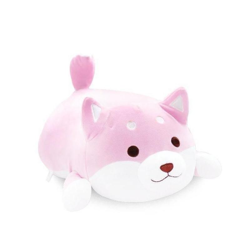 """Плюшевая игрушка Сиба-ину (50 см) розовая купить в магазине """"Пустун"""""""