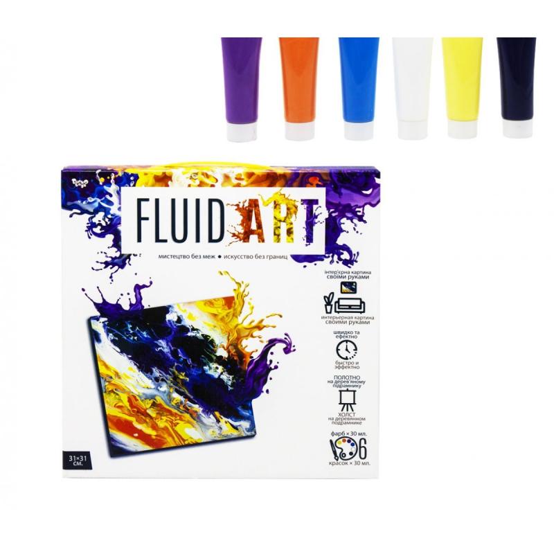 """Набор для творчества """"Fluid art"""" FA-01-01 купить в магазине """"Пустун"""""""