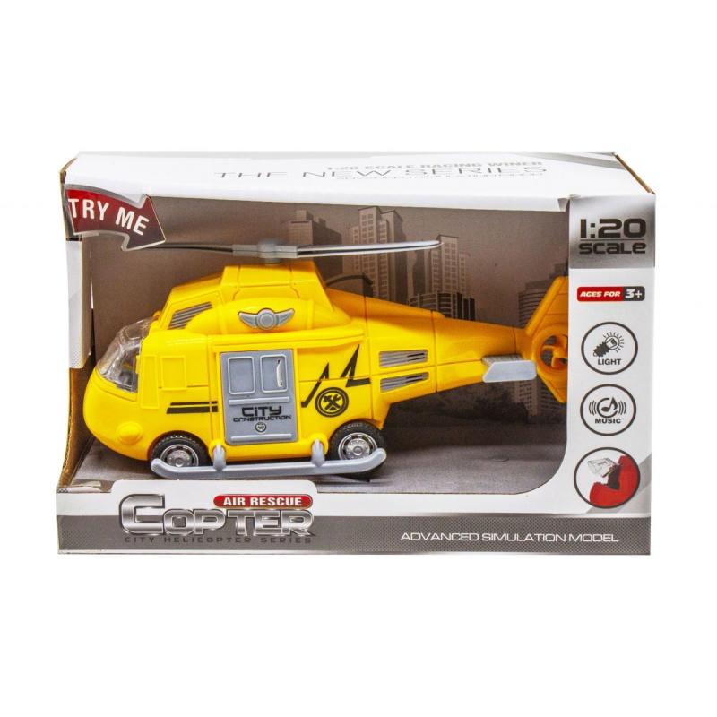 """Вертолет """"Air Rescue"""", желтый 661-01E/611-01D/661-01 купить в магазине """"Пустун"""""""