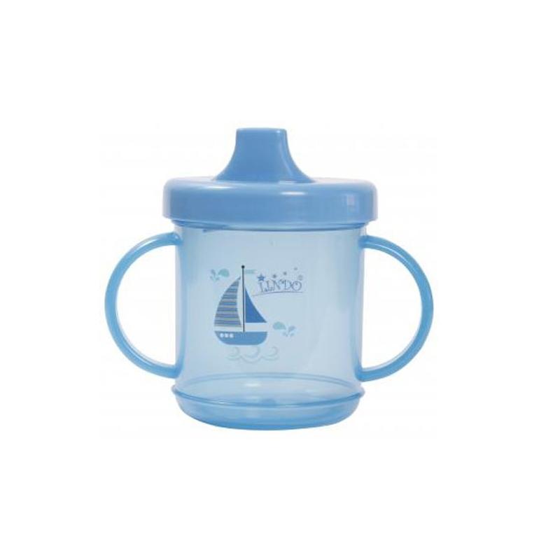 """Чашка непроливайка с ручками 210 мл., синий LI 700 купить в магазине """"Пустун"""""""
