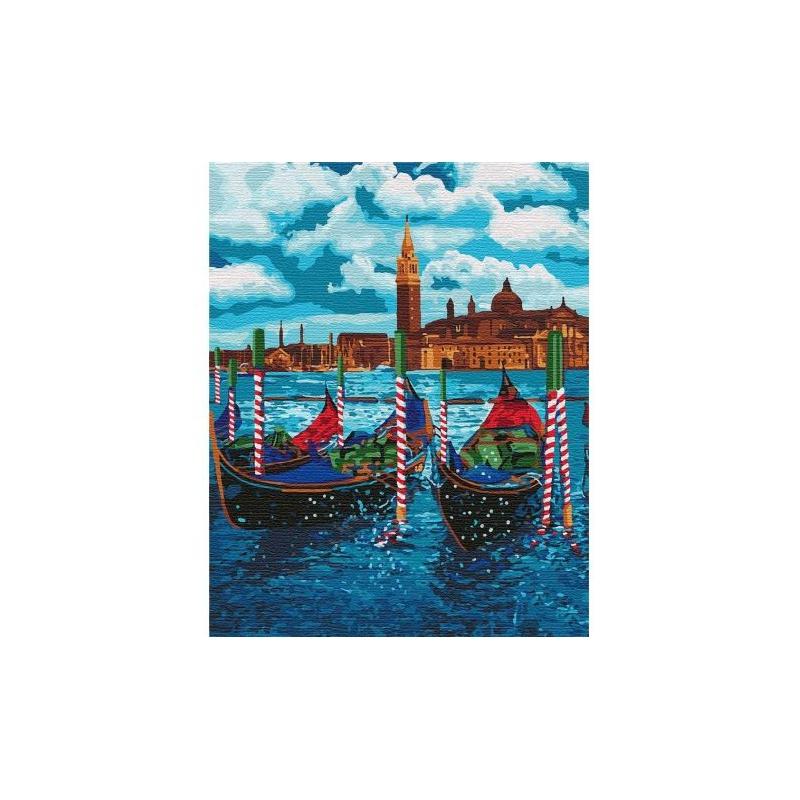 """Картина по номерам """"Венецианское такси"""" ★★★★★ КНО2749 купить в магазине """"Пустун"""""""