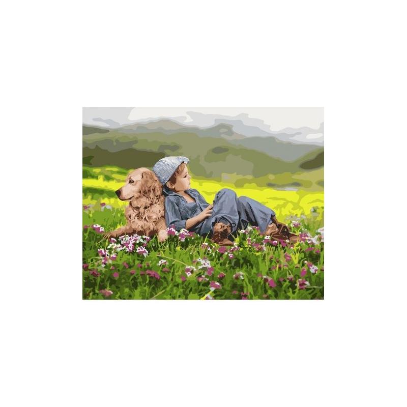 """Картина по номерам """"Дружественный дуэт"""" ★★★★★ КНО4702 купить в магазине """"Пустун"""""""