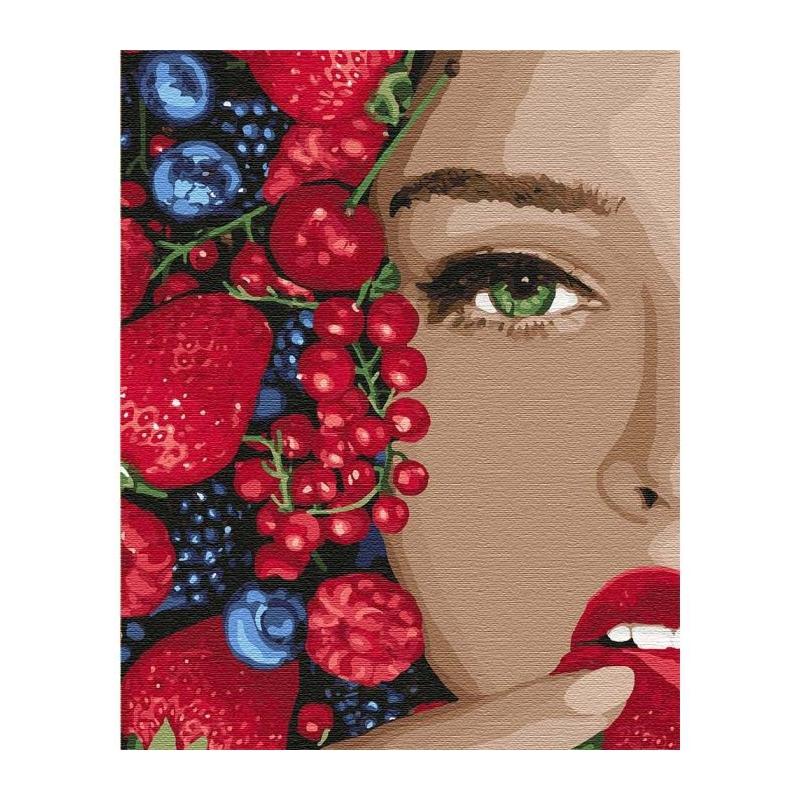 """Картина по номерам """"Сочная ягодка"""" ★★★★ КНО4739 купить в магазине """"Пустун"""""""