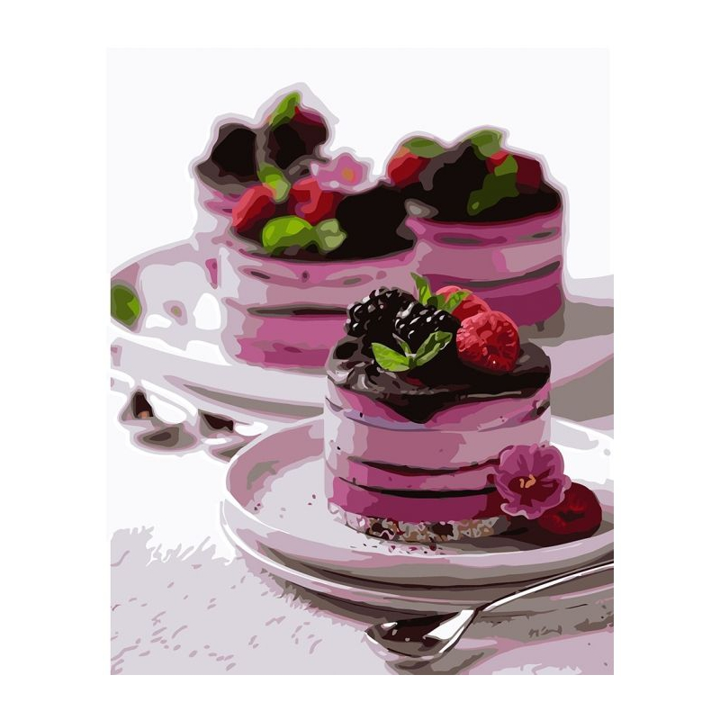 """Картина по номерам """"Десерт для души"""" ★★★★ КНО5584 купить в магазине """"Пустун"""""""
