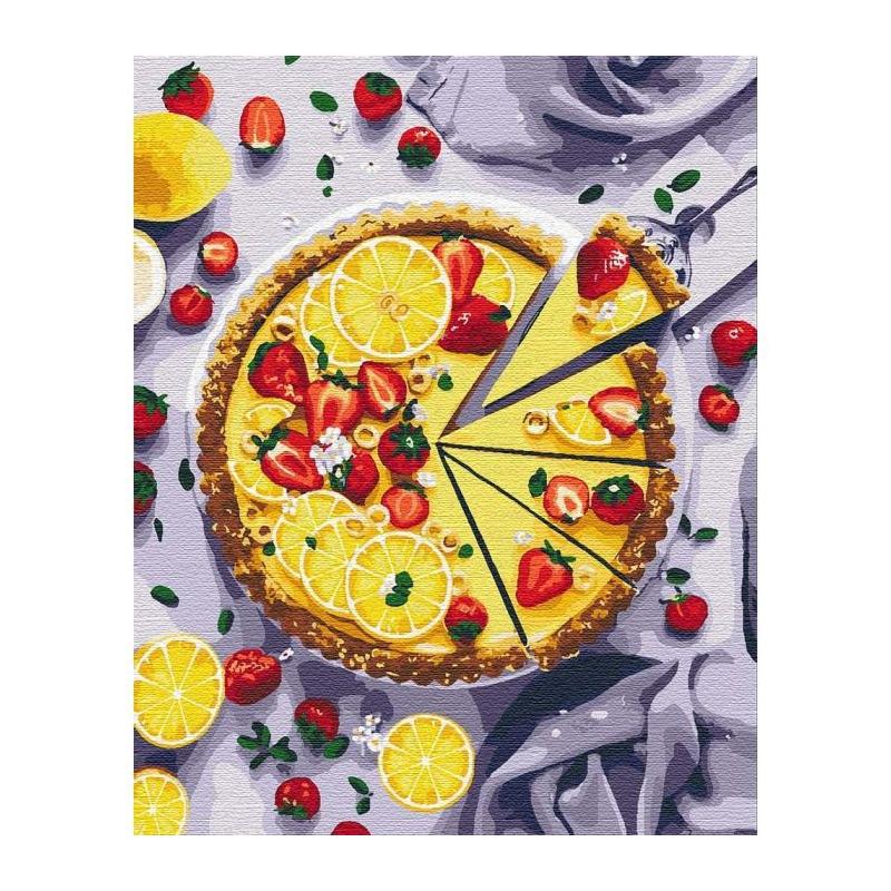 """Картина по номерам """"Лимонный пирог"""" ★★★★★ КНО5594 купить в магазине """"Пустун"""""""