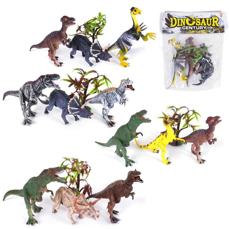 """Набор резиновых динозавров, 3 фигурки RN532-3 купить в магазине """"Пустун"""""""