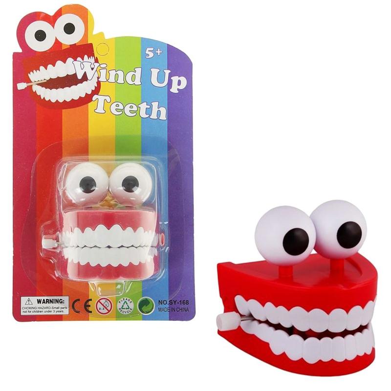 """Заводная игрушка """"Зубы с глазами"""" SY-168 купить в магазине """"Пустун"""""""