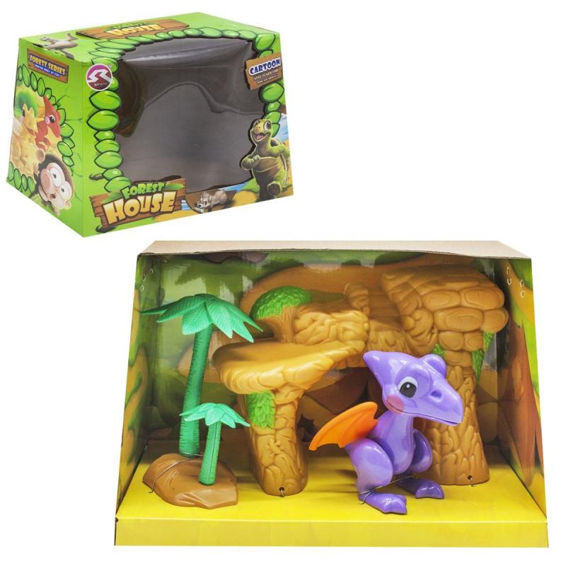 """Игровой набор """"Forest House"""" (фиолетовый динозаврик) T15/T18 купить в магазине """"Пустун"""""""