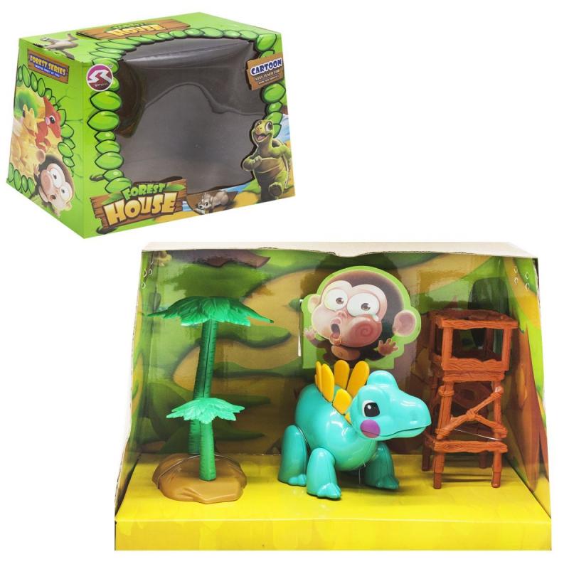"""Игровой набор """"Forest House"""" (бирюзовый динозаврик) T15/T18 купить в магазине """"Пустун"""""""