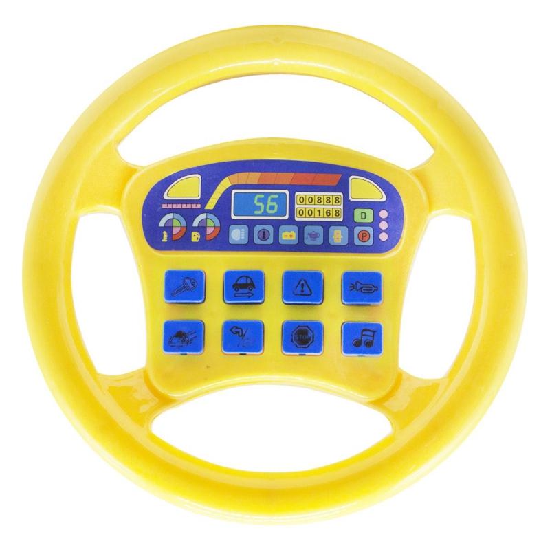 """Интерактивная игрушка """"Руль"""", жёлтый QX-1899 купить в магазине """"Пустун"""""""