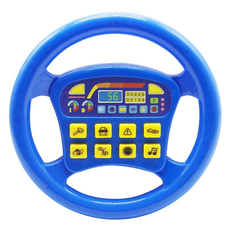 """Интерактивная игрушка """"Руль"""", синий QX-1899 купить в магазине """"Пустун"""""""