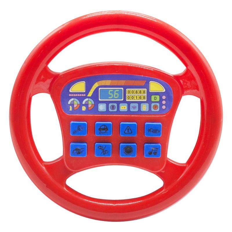 """Интерактивная игрушка """"Руль"""", красный QX-1899 купить в магазине """"Пустун"""""""