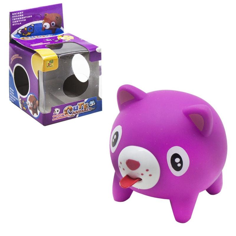 """Пищалка """"Котенок"""", высовывает язык (фиолетовый) 2008-1 купить в магазине """"Пустун"""""""