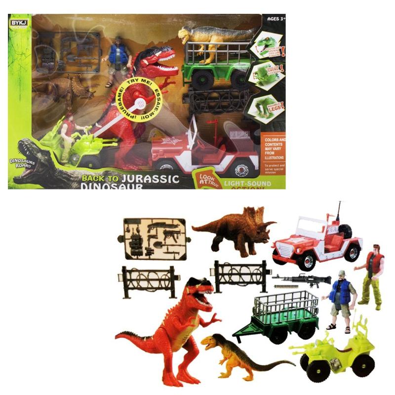 """Игровой набор """"Back to Jurassic Dinosaur"""", красный 7733 купить в магазине """"Пустун"""""""