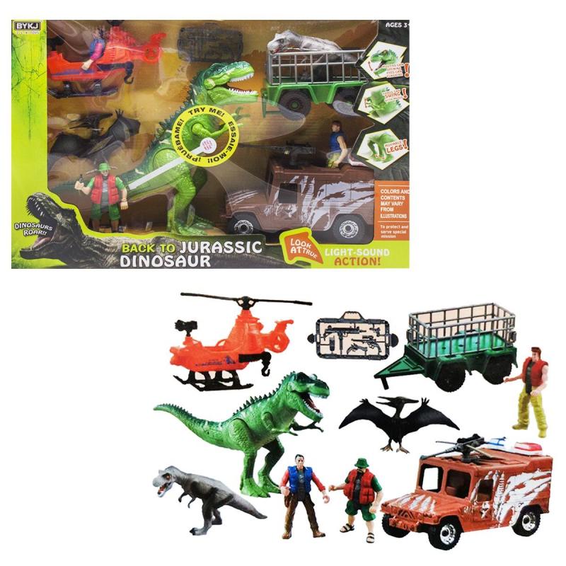 """Игровой набор """"Back to Jurassic Dinosaur"""", зеленый 7733 купить в магазине """"Пустун"""""""