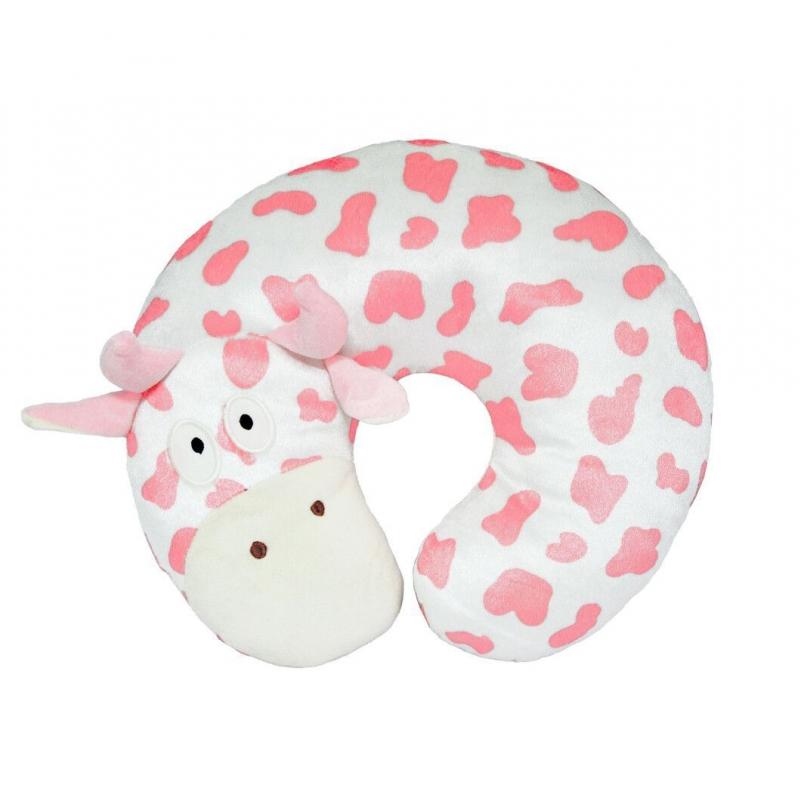 """Подушка-подголовник TIGRES Коровка розового цвета (ПД-0388) купить в магазине """"Пустун"""""""