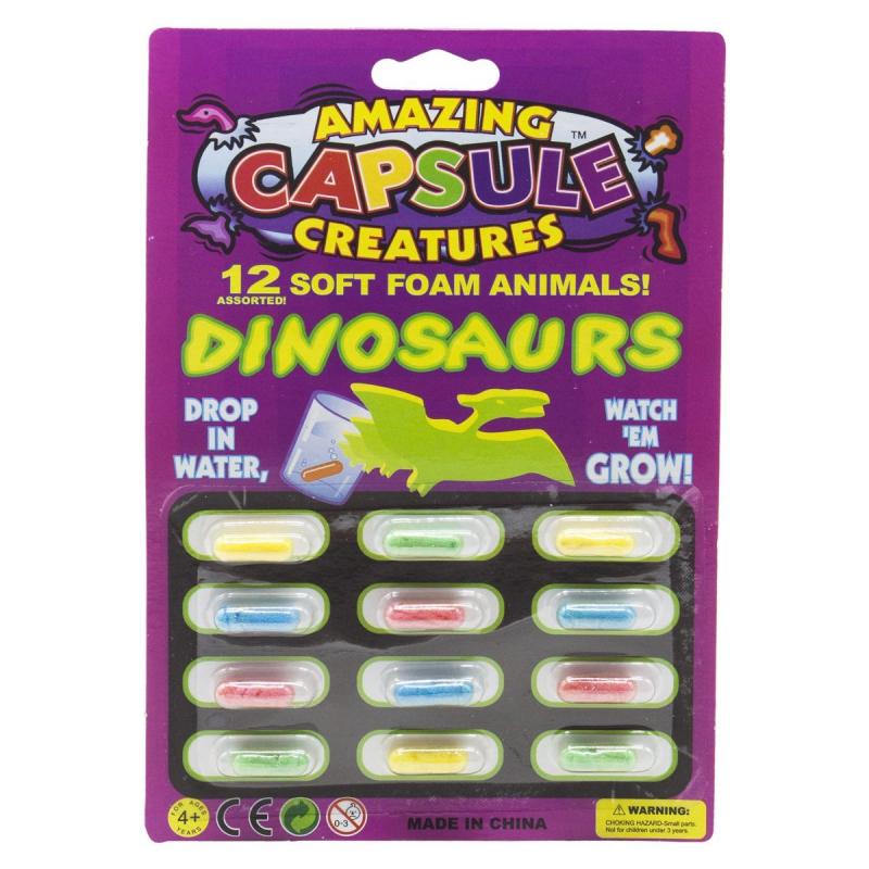 """Динозавр-растушка в капсуле CR3280 купить в магазине """"Пустун"""""""
