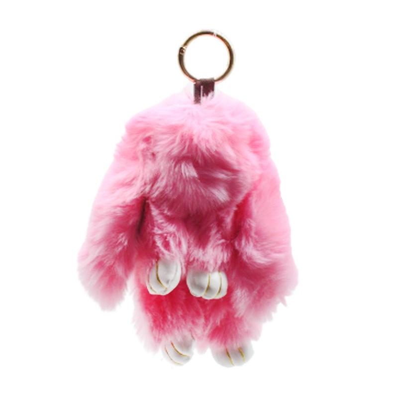 """Брелок меховой """"Зайка"""" светло-розовый BR1062 купить в магазине """"Пустун"""""""