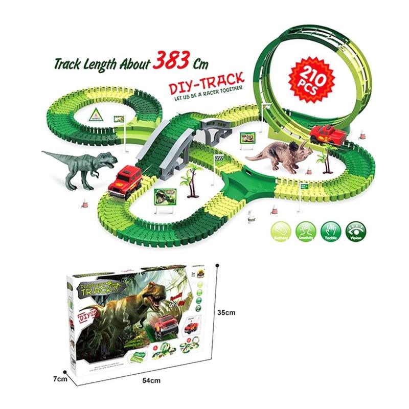 """Трек """"Dinosaur Track"""" 210 деталей GD10A купить в магазине """"Пустун"""""""
