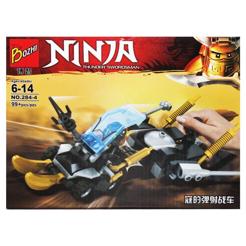"""Конструктор """"NINJA"""", черный 284#1-4 купить в магазине """"Пустун"""""""