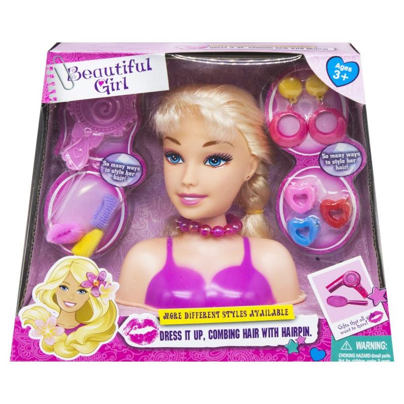 """Кукла-манекен для причесок Beautiful Girl вид 2 B369-17/8/9 купить в магазине """"Пустун"""""""