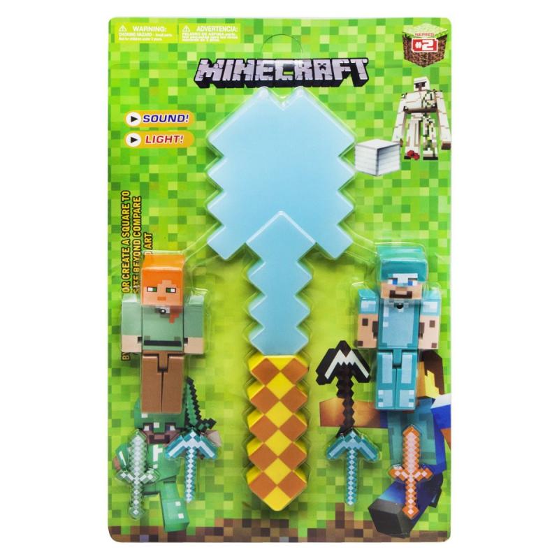 """Игровой набор с оружием """"Minecraft"""", алмазная лопата JL18334B-2 купить в магазине """"Пустун"""""""