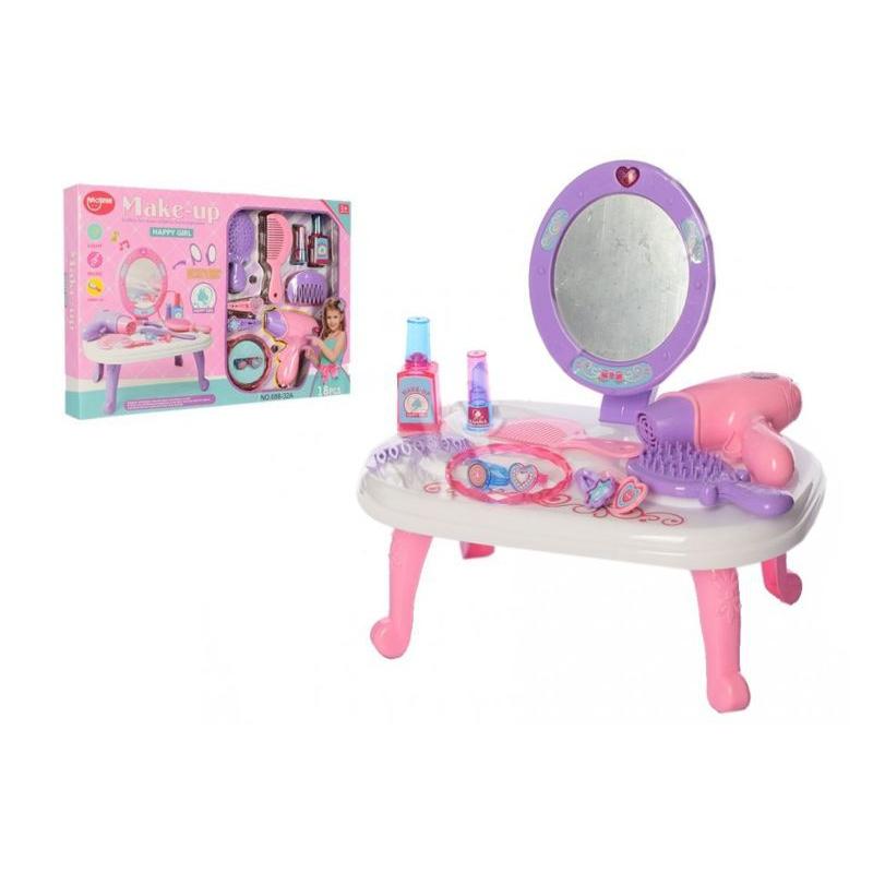 """Косметический столик с зеркалом """"Happy Girl"""" 688-32A купить в магазине """"Пустун"""""""