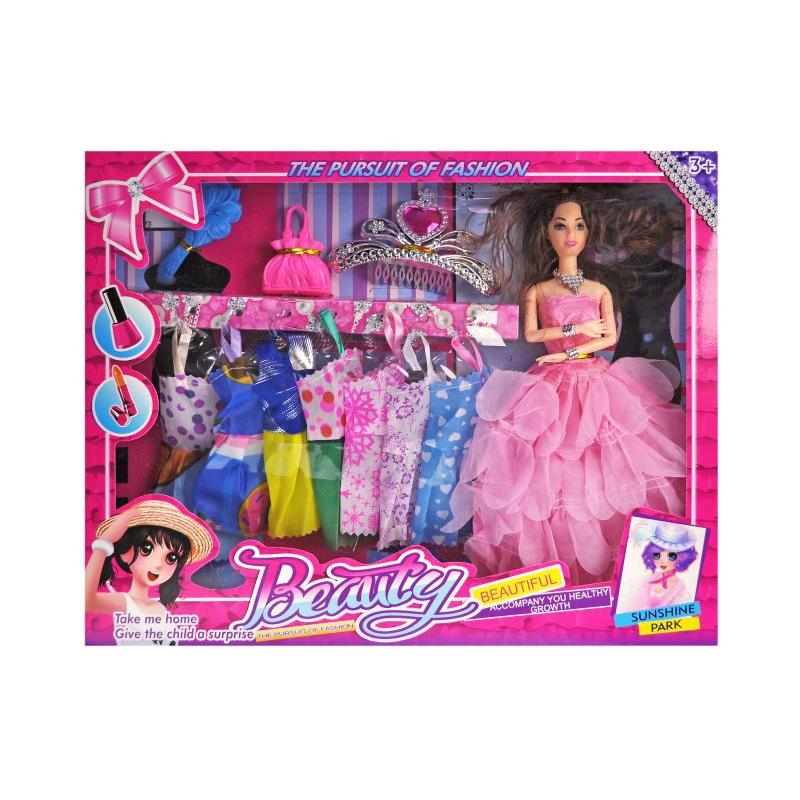 """Кукла с гардеробом """"Beauty"""" R839 купить в магазине """"Пустун"""""""