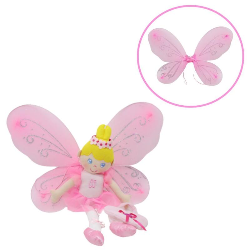 """Мягкая кукла с маскарадными крыльями Фея купить в магазине """"Пустун"""""""