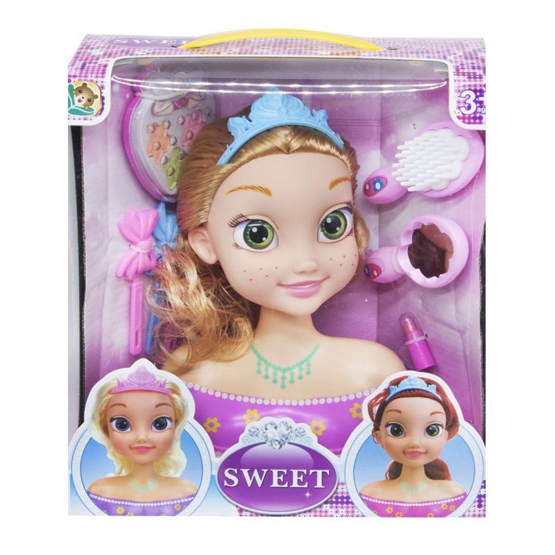 "Кукла-манекен для причесок ""Sweet: Шатенка"" L-88-2 купить в магазине ""Пустун"""
