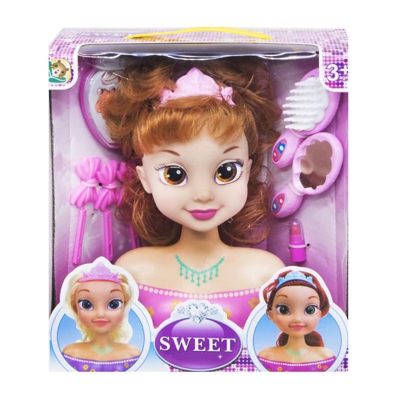 """Кукла-манекен для причесок """"Sweet: Рыжая"""" L-88-2 купить в магазине """"Пустун"""""""