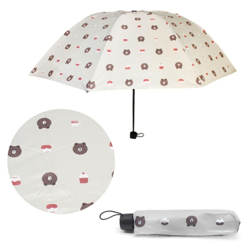"""Зонтик складной """"Мишутки"""", белый UM5672 купить в магазине """"Пустун"""""""
