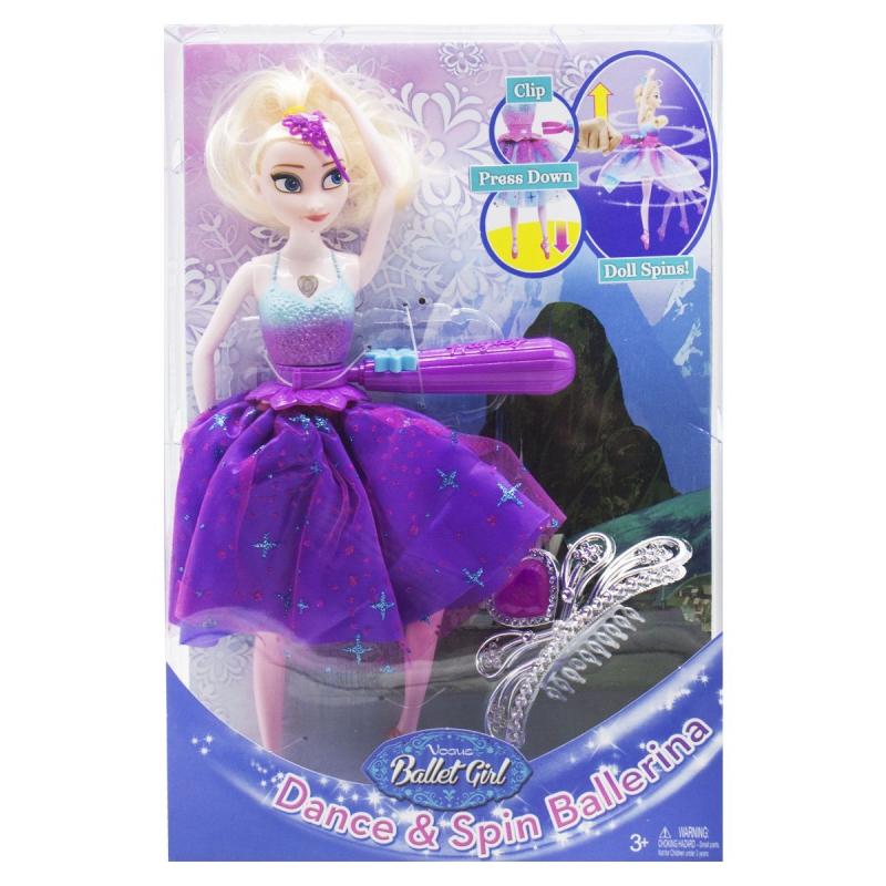 """Интерактивная кукла """"Балерина Эльза"""" (фиолетовая) HC228857 купить в магазине """"Пустун"""""""